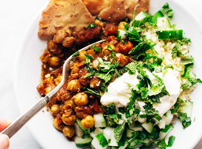 Moroccan Spiced Chickpea Glow Bowl recipe