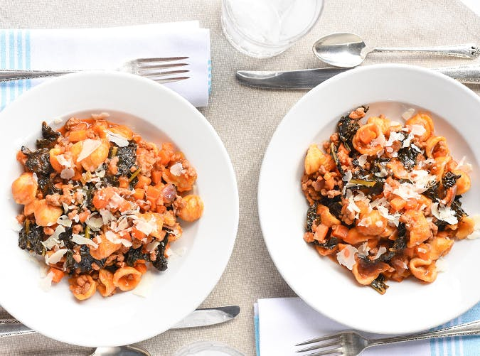 One Pot Orecchiette Ragu recipes for two people