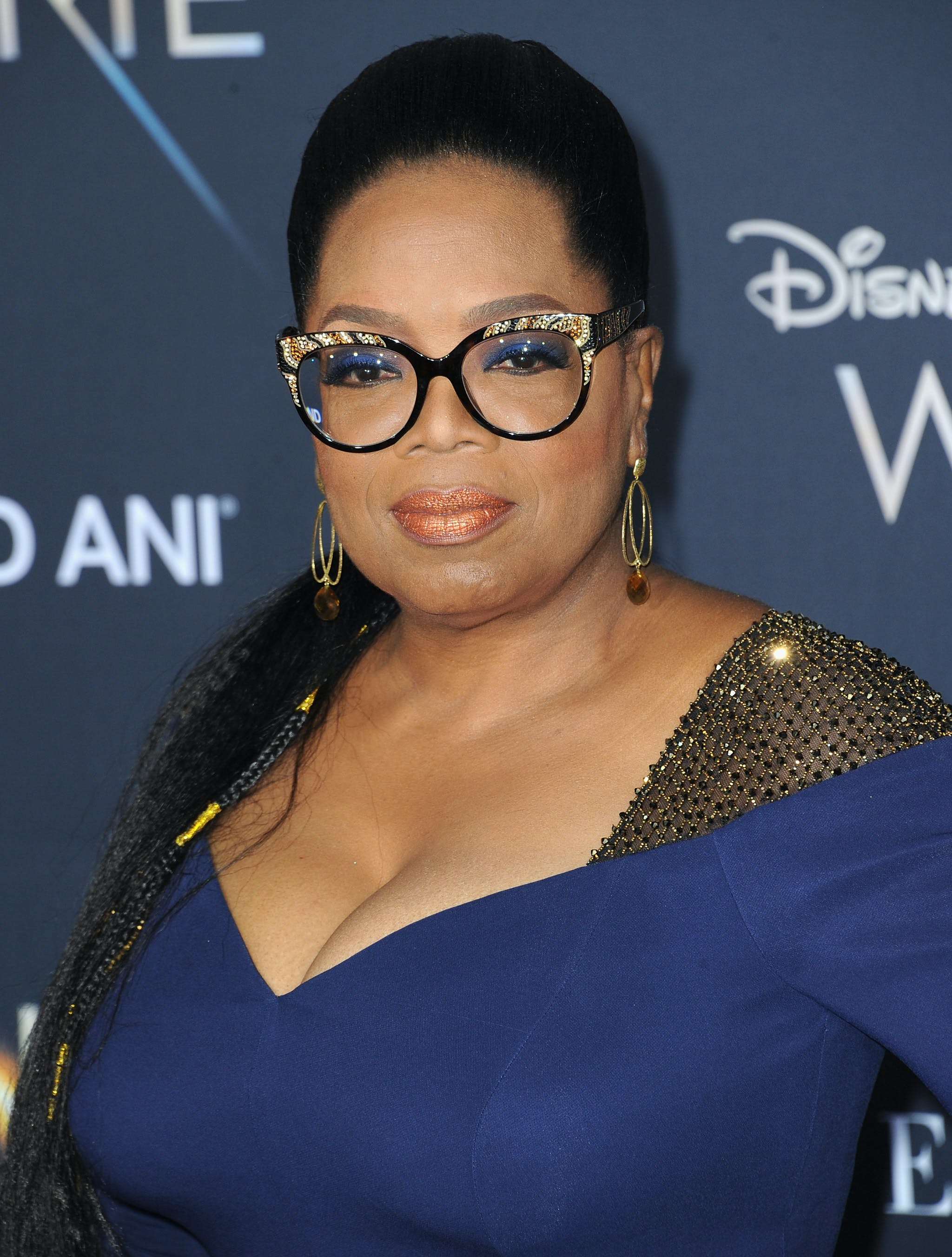 Oprah Winfrey at the premier of A Wrinkle In Time