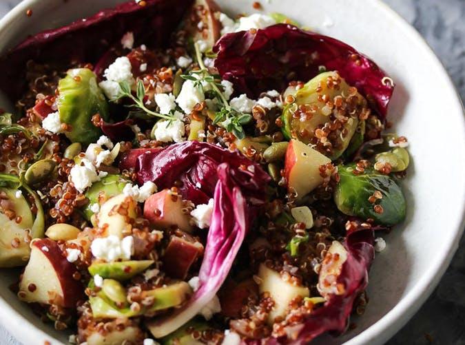 Quinoa Bowls with Orange Thyme Vinaigrette recipe