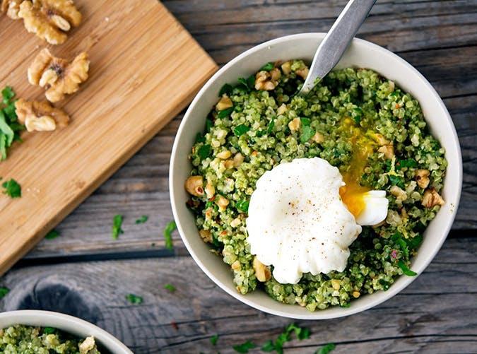 Quinoa Kale Pesto Bowl recipe