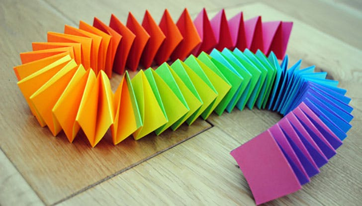 Rainbow paper garland crafts for kids