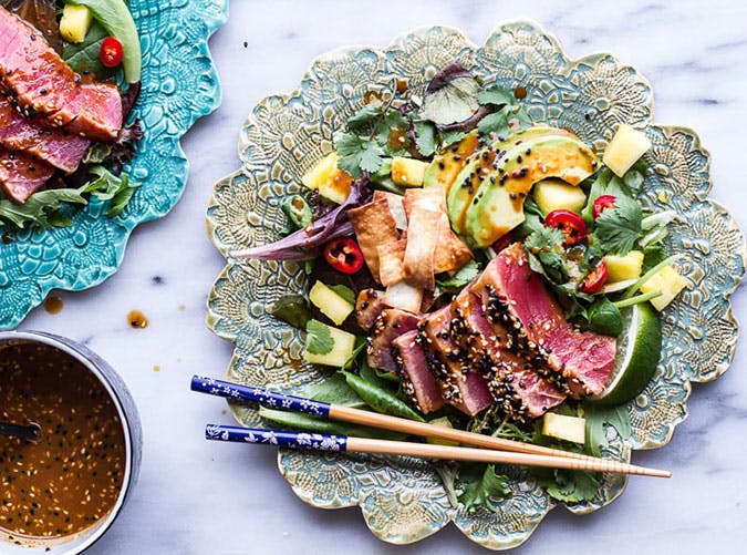 16 quick and easy anti inflammatory dinner recipes purewow seared ahi tuna poke salad recipe forumfinder Image collections