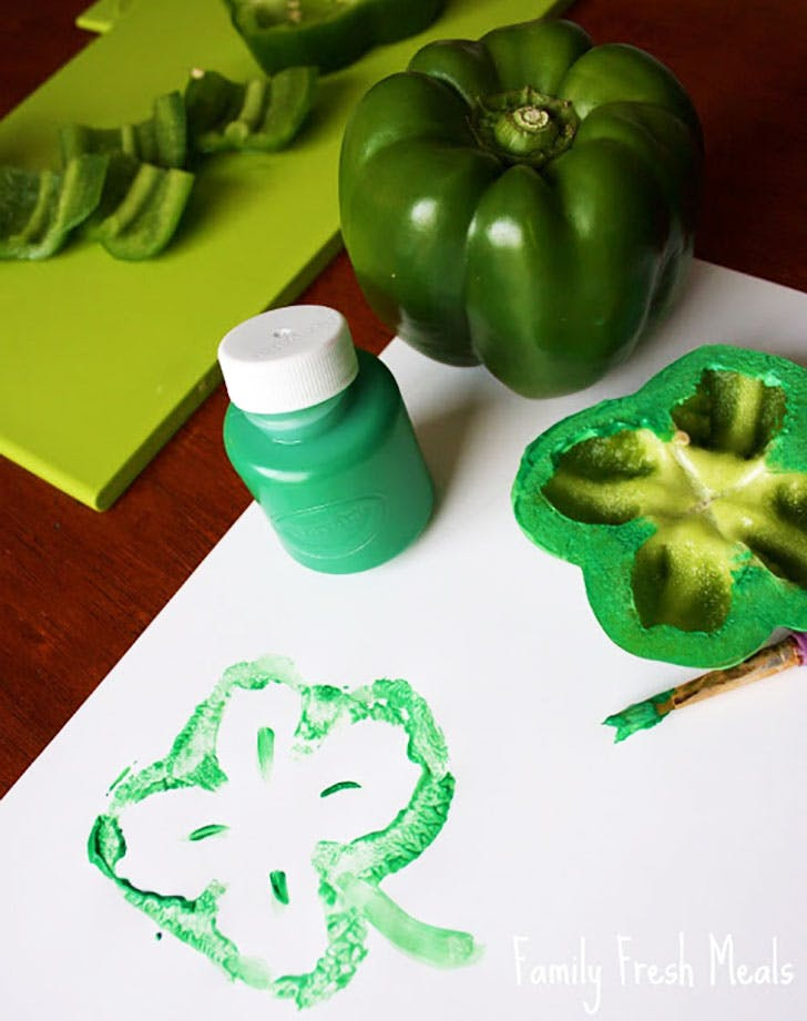 Shamrock Stamps Crafts for St Patricks Day