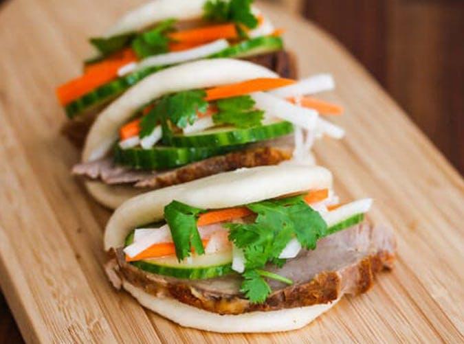 Sous Vide Pork Loin Banh Mi Buns recipe