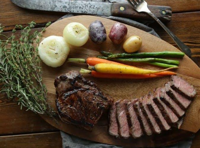 Sous Vide Steak and Vegetables recipe
