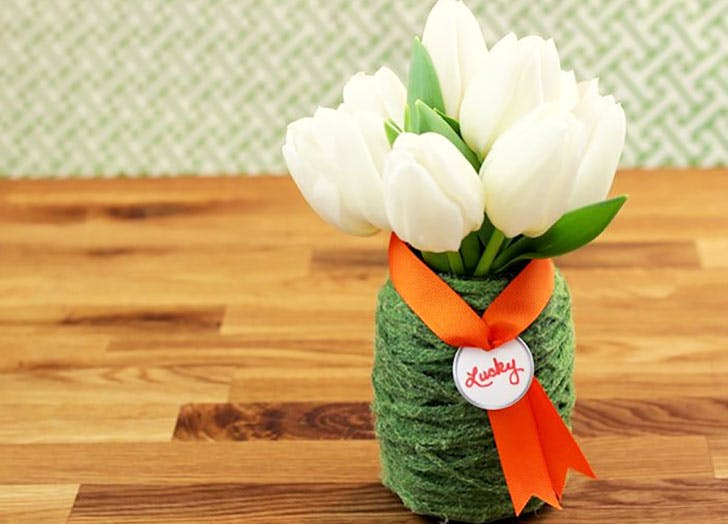 St. Patrick s Day Yarn Vase Craft for Kids