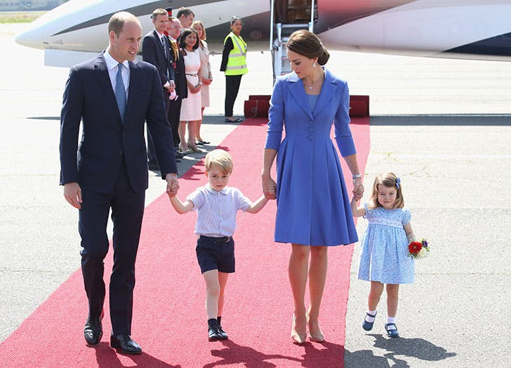 The Royal family arriving at airport