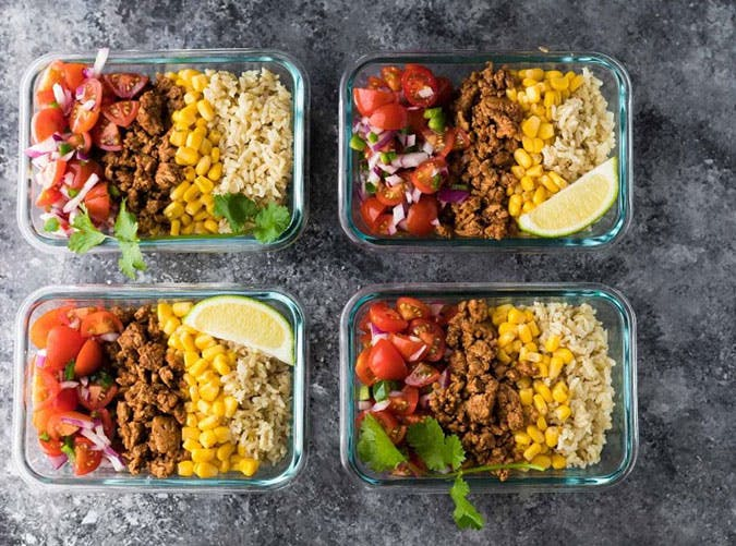 Turkey Taco Lunch Bowls Anti Inflammatory Lunch Recipe