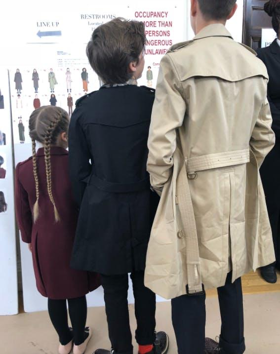 Victoria Beckham kids backstage NYFW