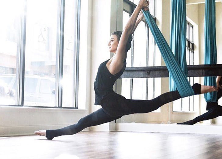 aerial fitness class