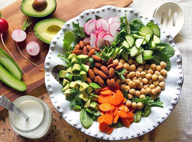asaparagus pea arugula salad creamy poppy seed dressing recipe