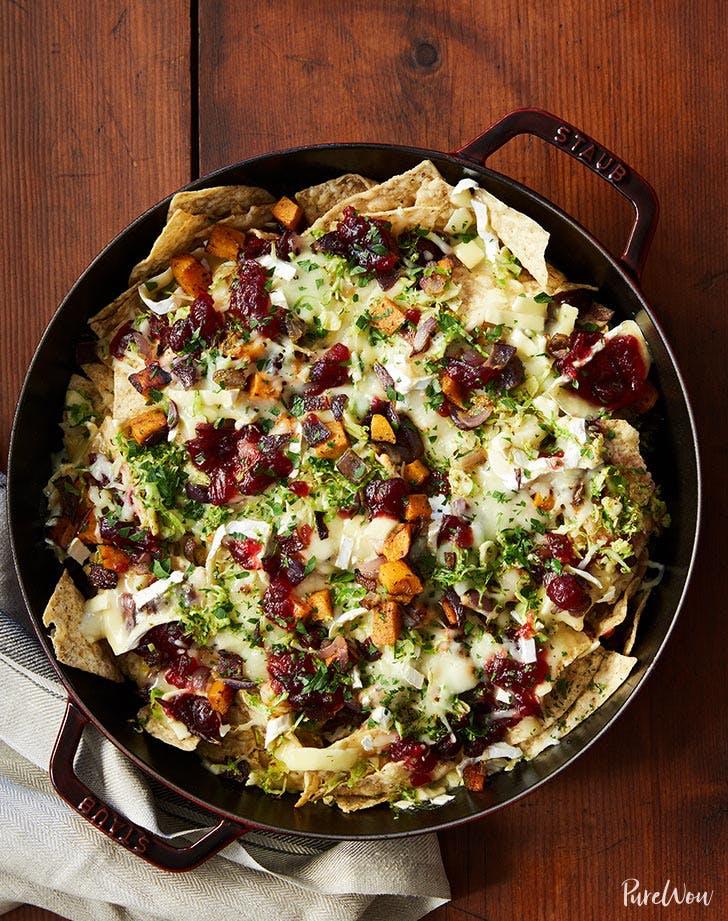 brussels sprout brie skillet nachos recipe