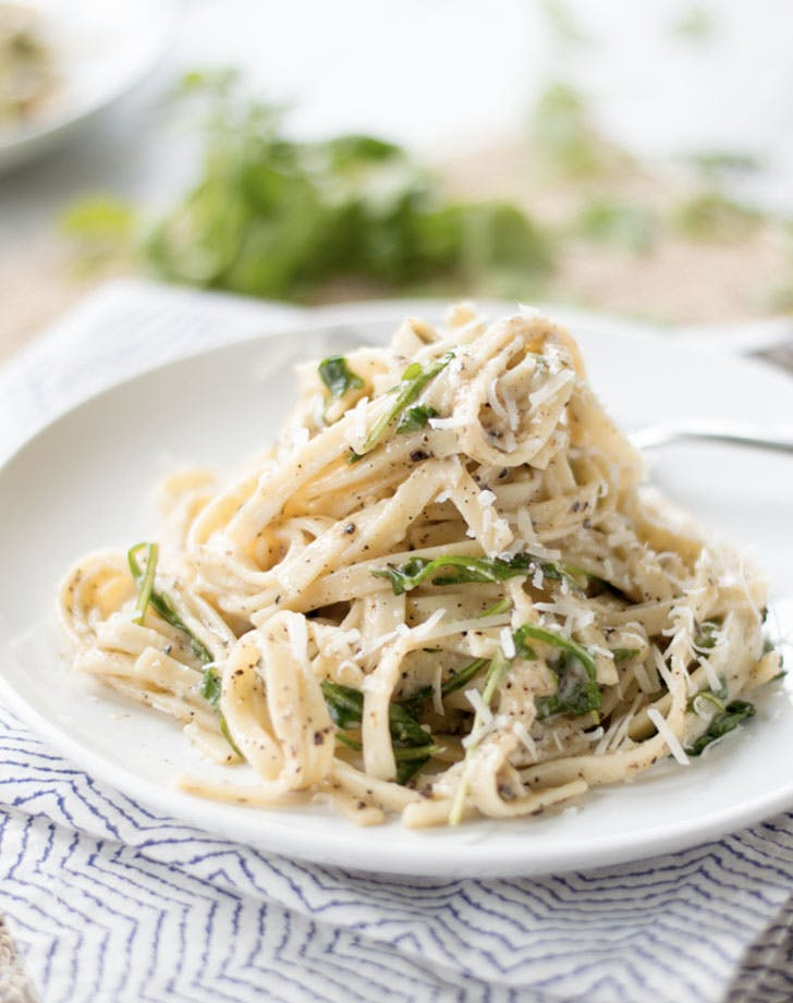 cacio e pepe with arugula recipe