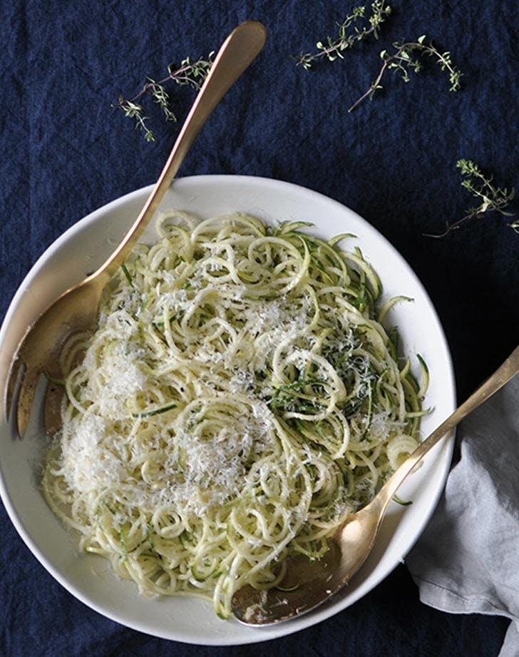 cacio e pepe zucchini noodles recipe
