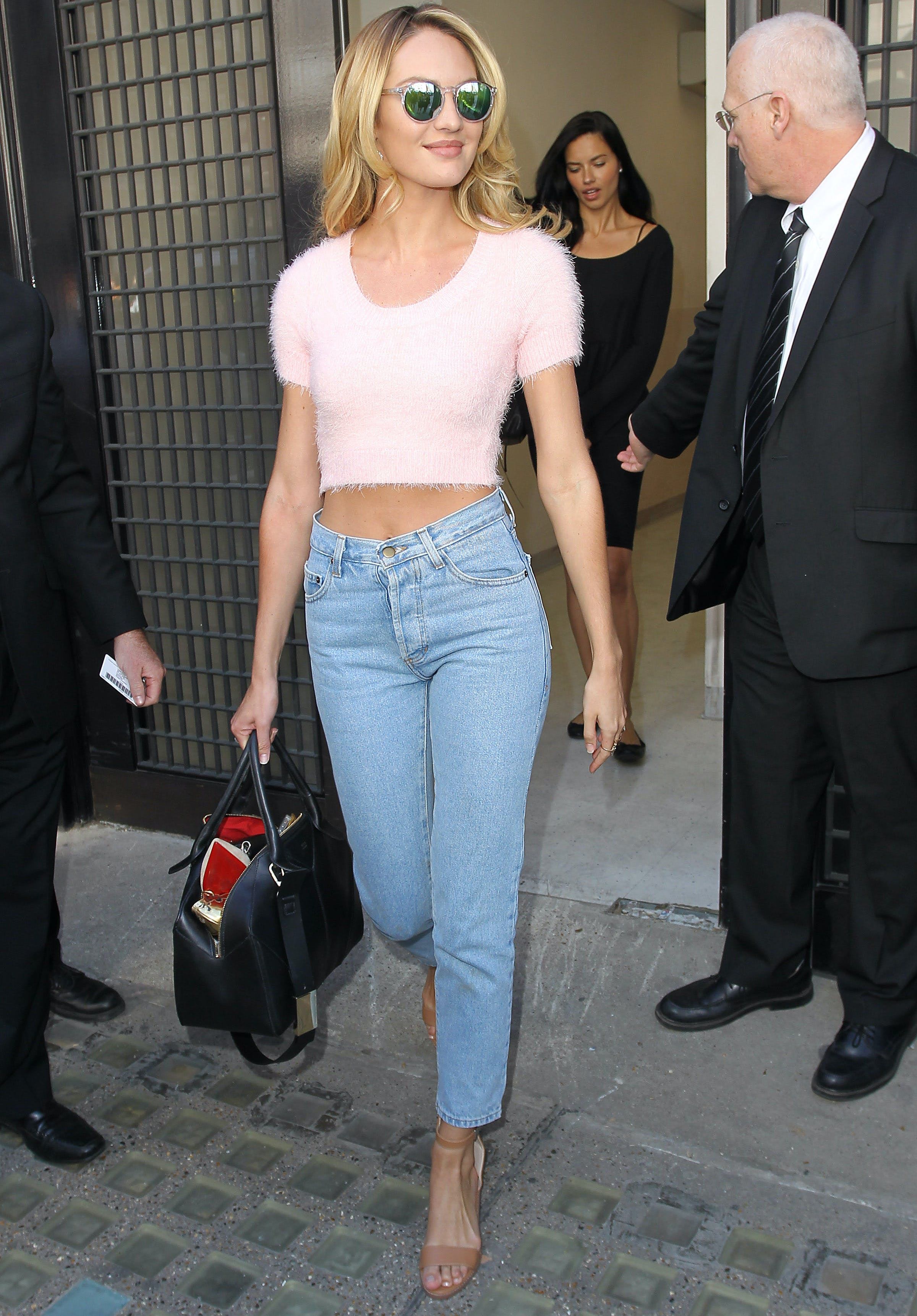 candice swanepoel wears a shrunken sweater from the 90s