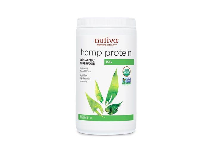 cannister of nutiva hemp protein powder