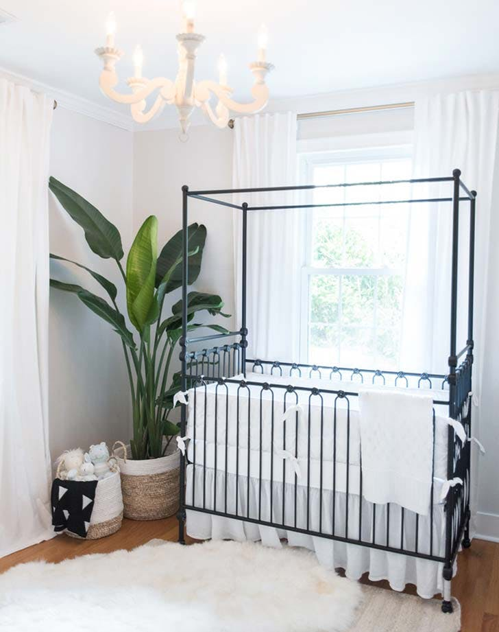 canopy crib nursery