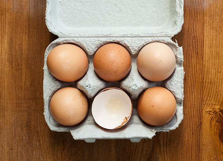 carton of six eggs