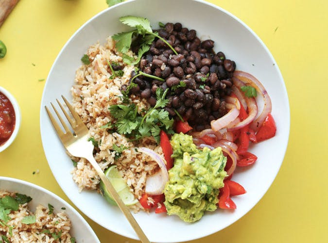 cauliflower rice burrito bowl recipe