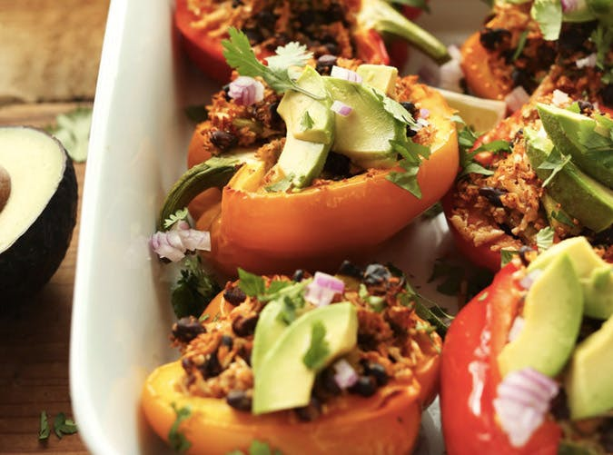 cauliflower rice stuffed peppers recipe