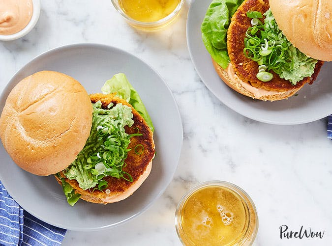 cauliflower rice sweet potato burger recipe