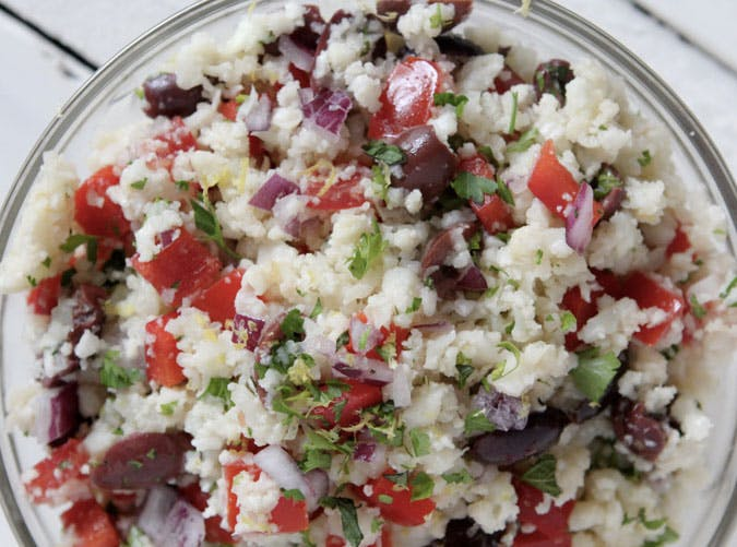cauliflower rice tabouleh recipe