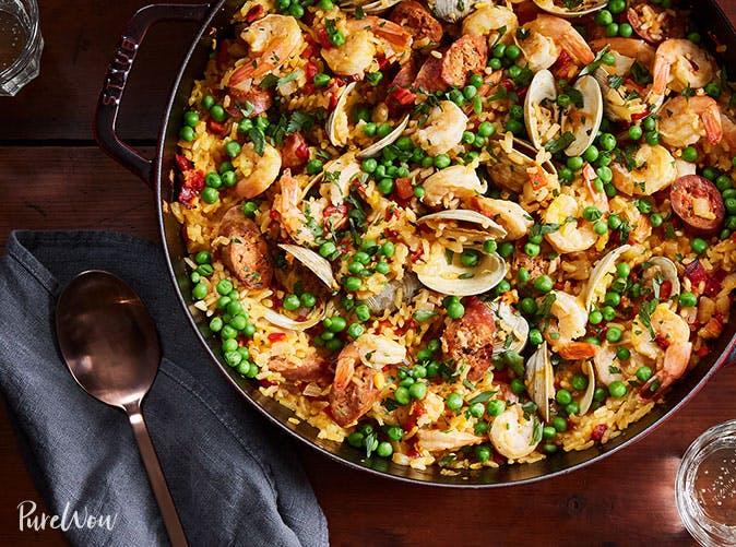cheaters skillet paella recipe