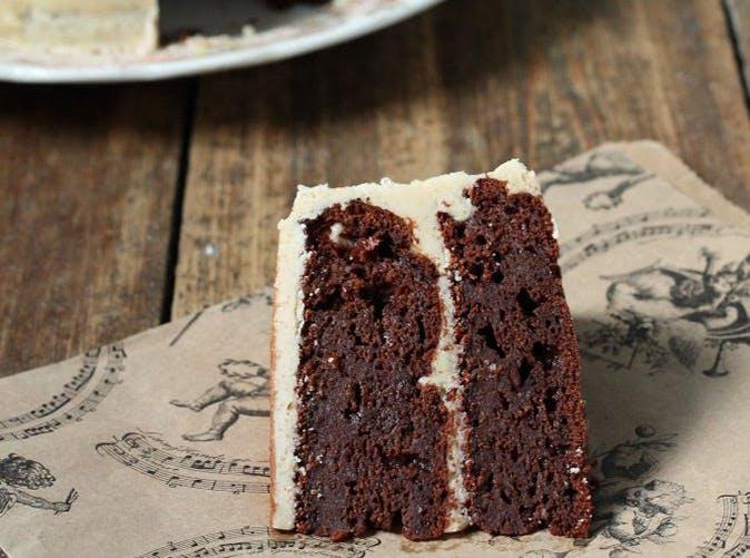 chocolate caulifower cake salted cinnamon caramel icing recipe