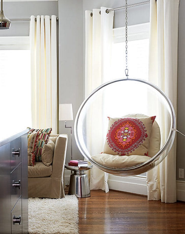 clear orb hanging chair