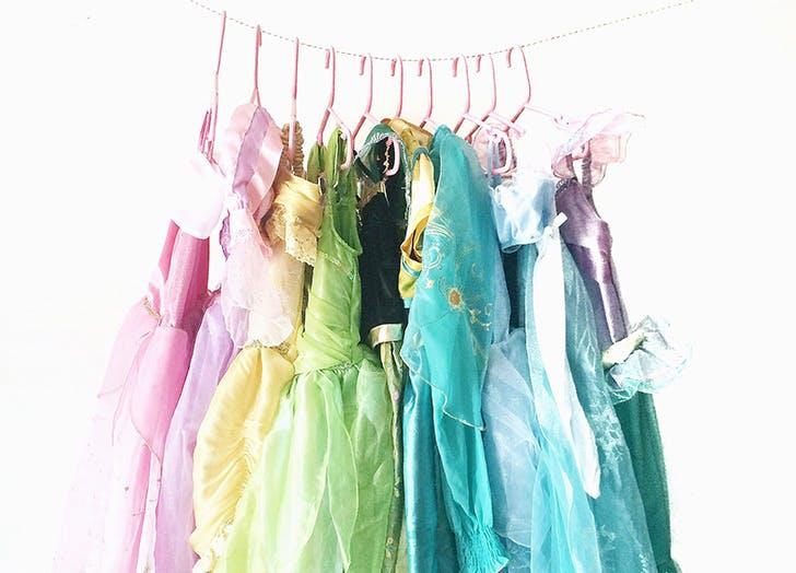 closet full of disney costumes