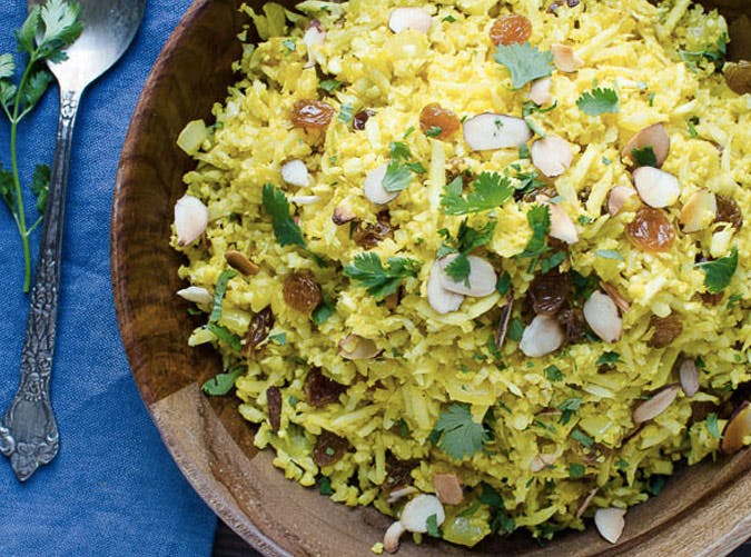 curried cauliflower rice pilaf recipe