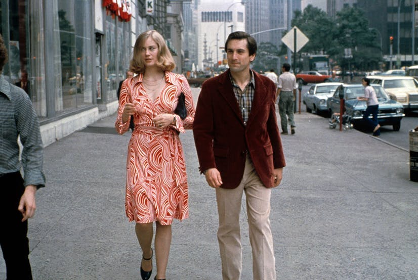 cybill shepherd wearing a dvf wrap dress in the movie taxi driver