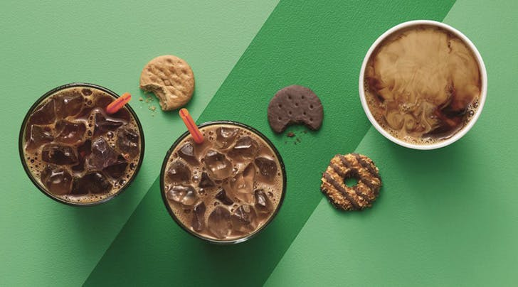 Dunkin' Donuts Just Revealed the Girl Scouts–Inspired Coffee of Our Dreams