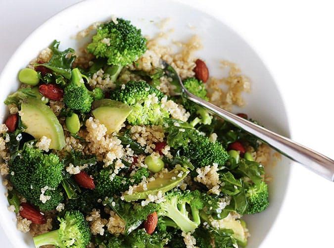 easy superfood quinoa goddess bowl recipe