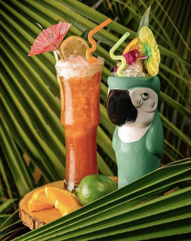 festive tropical cocktails