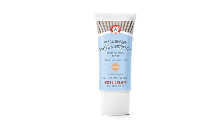 first aid beauty tinted moisturizer hero1