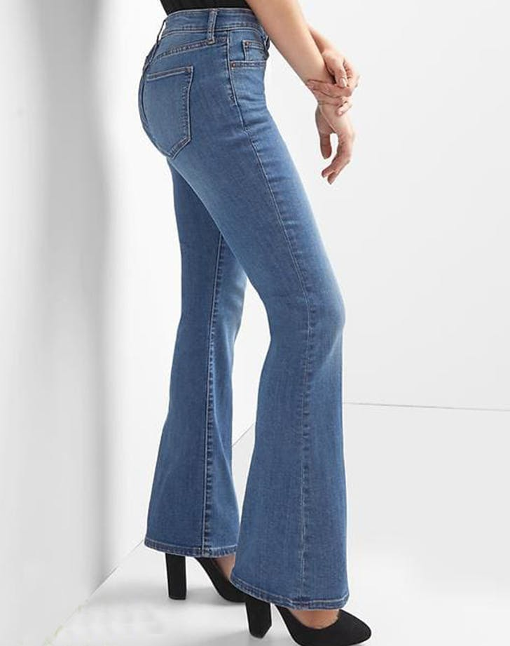 gap petite flare jeans