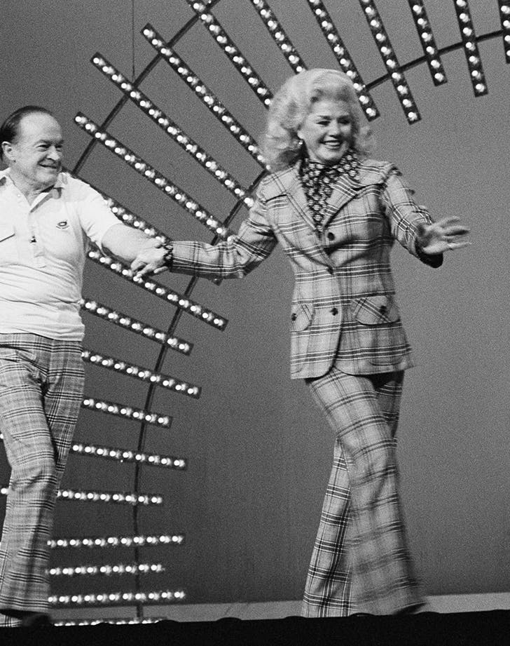 ginger rogers and bob hope wearing plaid in 1978