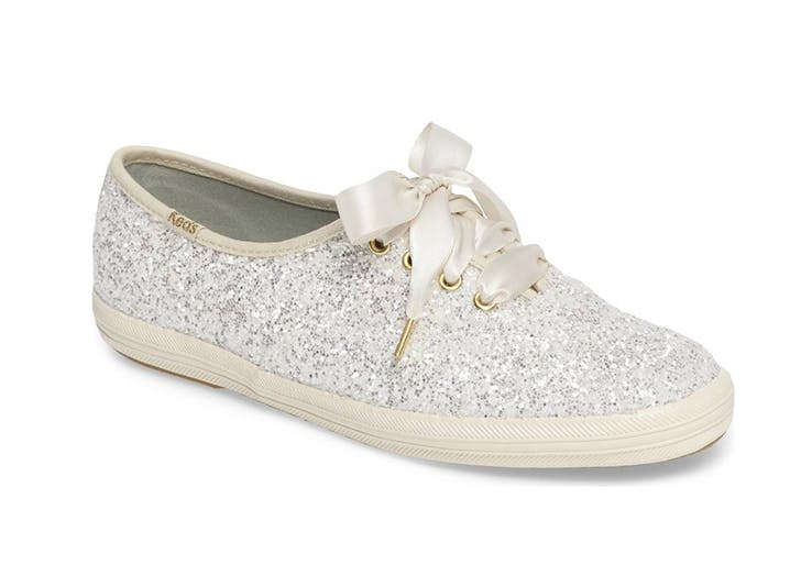 glittery white keds sneakers