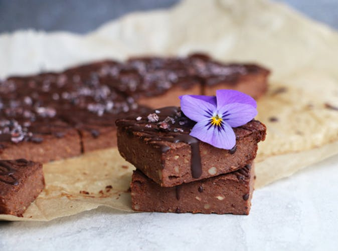 gluten free vegan chocolate cauliflower bars recipe