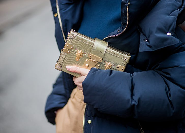 gold box clutch