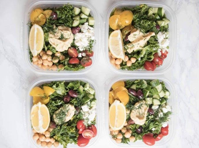 greek kale and quinoa salad bowls recipe