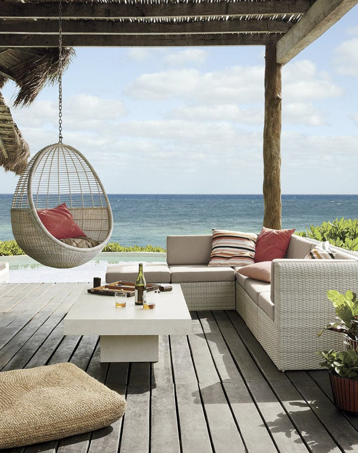 hanging chair outdoor patio