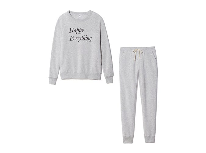 happy everything sweat suit