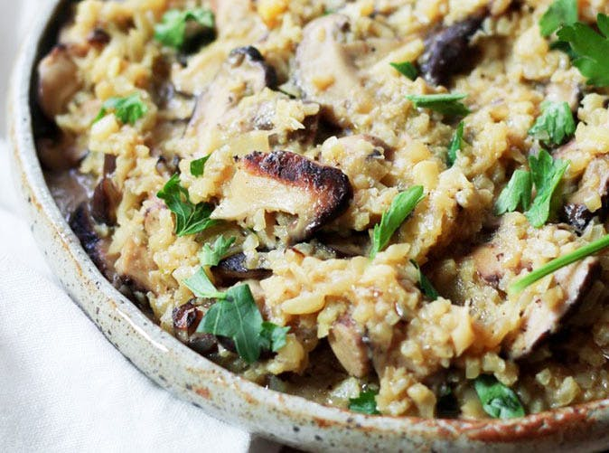 instant pot paleo cauliflower mushroom risotto recipe