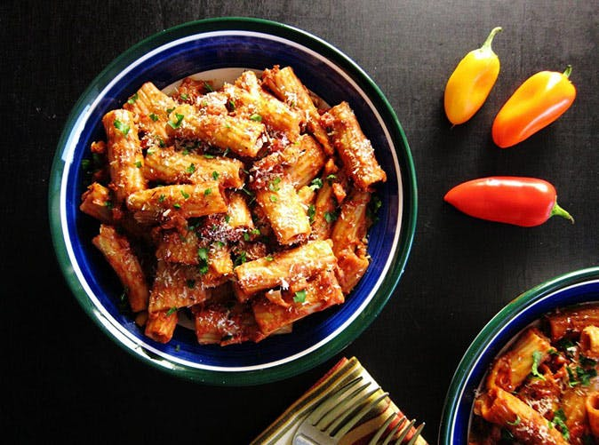 19 easy and delicious vegetarian instant pot recipes purewow instant pot vegetarian pasta rigatoni bolognese recipe forumfinder Gallery