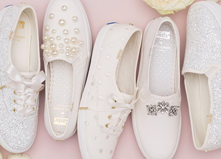Holy Matrimony, Keds X Kate Spade Just Released *30* Styles of Blinged-Out Bridal Sneaks
