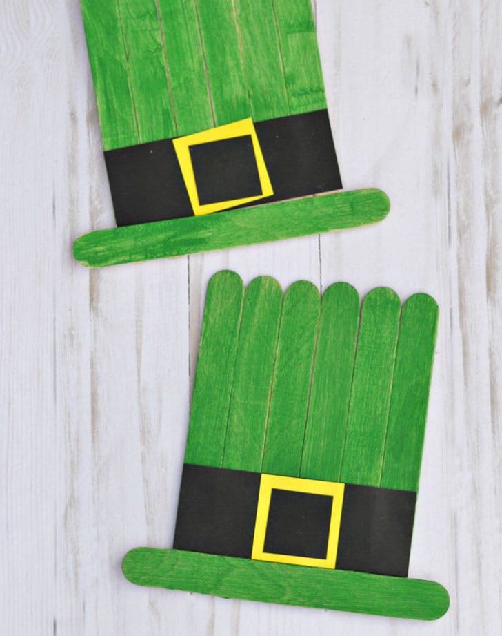 leprechaun hats st patricks day crafts for kids1