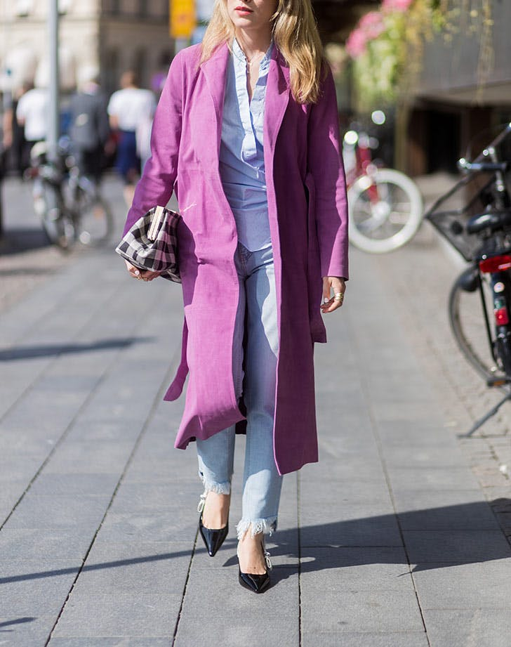 lilac suede jacket